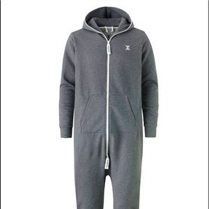Onepiece Jumpsuit Grey and White Unisex Large